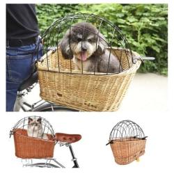 Cykelkorg till hund/katt, Hundkorg, Hundbädd - Hundkoja Brun