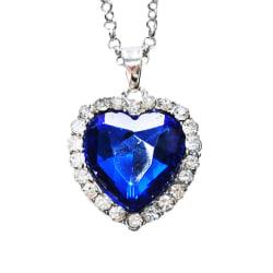 Halsband Titanic heart och ocean stor pärla vintage