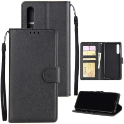 iPhone 12 / 12 Pro - Plånboksfodral - Wallet Svart