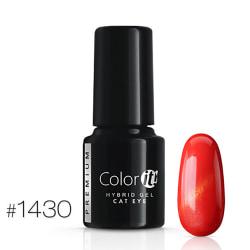 Gellack - Color IT - Premium - Cat Eye - *1430 UV-gel/LED Röd
