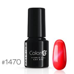 Gellack - Color IT - Premium - Cat Eye - *1470 UV-gel/LED Röd