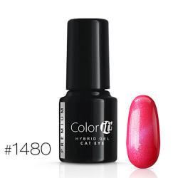 Gellack - Color IT - Premium - Cat Eye - *1480 UV-gel/LED Rosa