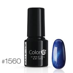 Gellack - Color IT - Premium - Cat Eye - *1560 UV-gel/LED Blå