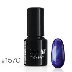 Gellack - Color IT - Premium - Cat Eye - *1570 UV-gel/LED Blå