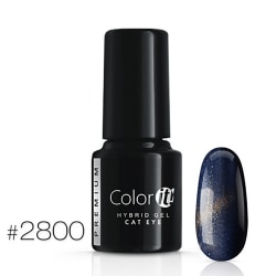 Gellack - Color IT - Premium - Cat Eye - *2800 UV-gel/LED Blå