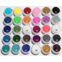Glitter finkornigt  21. Multicolor