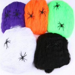 Halloween - Spindelväv / Spindelnät med 2 Spindlar Svart