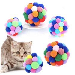 Kattleksak boll - flerfärgad