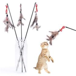 Kattleksak med Bruna fjädrar - Cat toy Brun