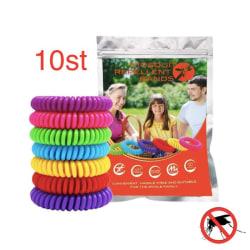 Myggavvisande armband 10st - Mosquito Repellent bracelet  multifärg