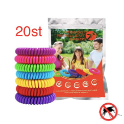 Myggavvisande armband 20st - Mosquito Repellent bracelet  multifärg