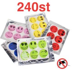 Myggavvisande klistermärken 240st - Mosquito Repellent Stickers multifärg