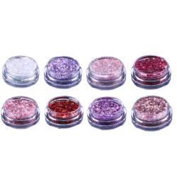 Nagelglitter mix - White, Pink, Purple Glitter mix - NR 8