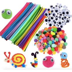 Pyssel kit - Piprensare, rörliga ögon, bollar  multifärg