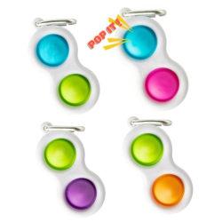 Simple dimple, MINI Pop it Fidget Finger Toy / Leksak- CE Rosa - Blå