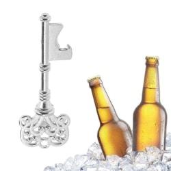 Vintage nyckel flasköppnare , kapsylöppnare Silver