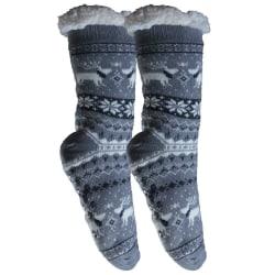 Mysiga och varma strumpor med halkskydd Grå 36-42