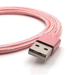 2m Lightning kabel för iPhone/iPad, Rosa Rosa