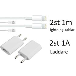 2 Pack laddare och 1m kabel 2 pack