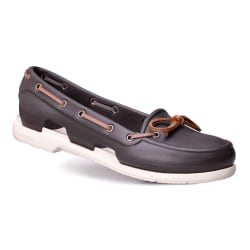 Crocs Beach Line Boat Shoe Vit,Bruna 33