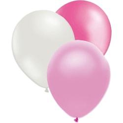 27 st Latexballonger i rosa, ljusrosa och vita. multifärg