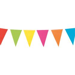 Flaggirlang | Vimpelgirlang | Flerfärgad - 3 m.  multifärg