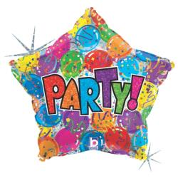 """Folieballong PartyStar 48 cm (19"""") multifärg"""