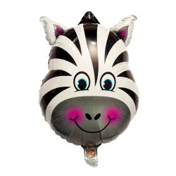 Folieballong Zebra 56cm multifärg
