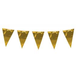 Gigantisk Flaggirlang – Vimpelgirlang i Guld - 10 meter Guld