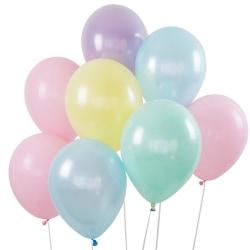 Sassier - Pastell   Candy   Macaron färgade ballonger 24 -pack  multifärg