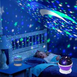 Nattlampa Stjärnhimmel & Måne  Lila
