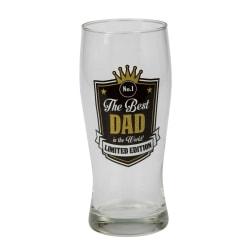 Ölglas Best Dad Svart