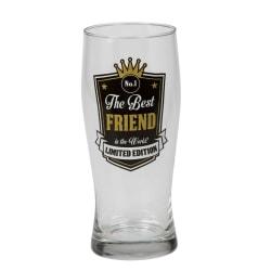 Ölglas Best Friend, för alla vänner som är ölälskare. Svart XL