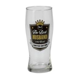 Ölglas Best Husband, för alla män som älskar öl Svart one size