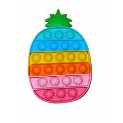 Pop it- Fidget Toy / Fidget Leksak- RAINBOW ananas multifärg