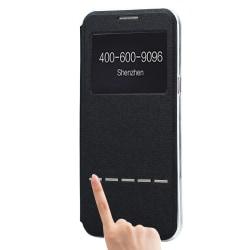 Fodral med Call-ID & Svara funktion- Samsung Galaxy S8 Svart