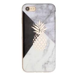 Marmor och ananas - skal till iPhone 7/8/SE 2020 multifärg