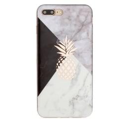 Marmorskal med ananas - iPhone 7/8 plus multifärg