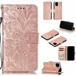 Mönstrad rosa plånbok för iPhone 11 PRO MAX Rosa