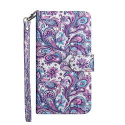 Plånbok med mönster i lila- för iPhone 7/8/SE 2020 Lila