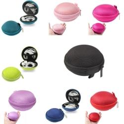 Skyddande fodral i nylon till hörlurar och kablar Svart