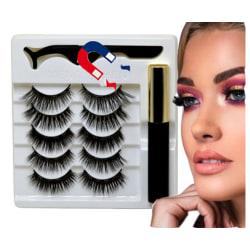 5 olika MINK 5D magnetiska ögonfransar magnetisk eyeliner