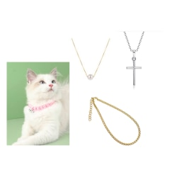 HANDMADE Pärlhalsband Katt present bästa vän små hundar