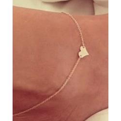 Armband guld/silver hjärta silver eller guld guld