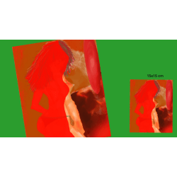 "X53 - ""AFF""- Art for feeling size 15x15 cm"