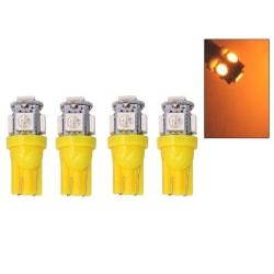 T10 w5w gul orange led med 5st 5050SMD chip 12v DC 4-pack  Gul-Orange 4-pack