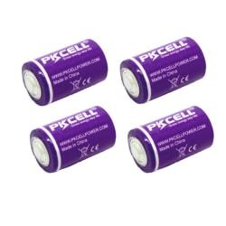 ER14250 4-pack Lithium 3,6V batteri ER-14250 1/2AA AA02