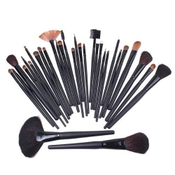 Makeup brush set 32st olika make up penslar i mjuk skinn väska
