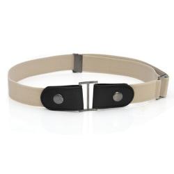 Elastic belt Ljusbrun
