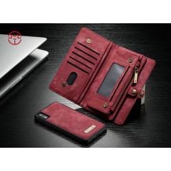 Case Me magnetic wallet  - iPhone XR Röd